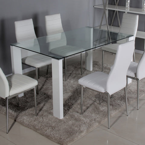Savona Large Set White or Black (6 Torino Chairs)