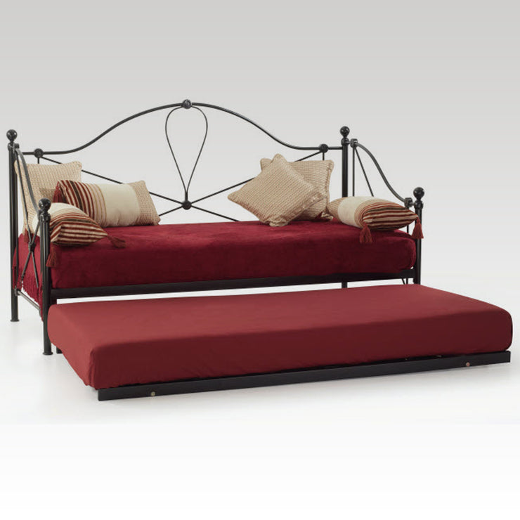 Lyon Small Single Day Bed & Guest Bed (Black)