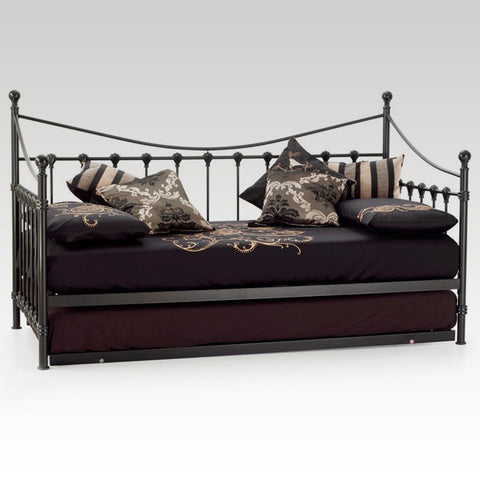 Marseilles Single Day Bed & Guest Bed (Black)
