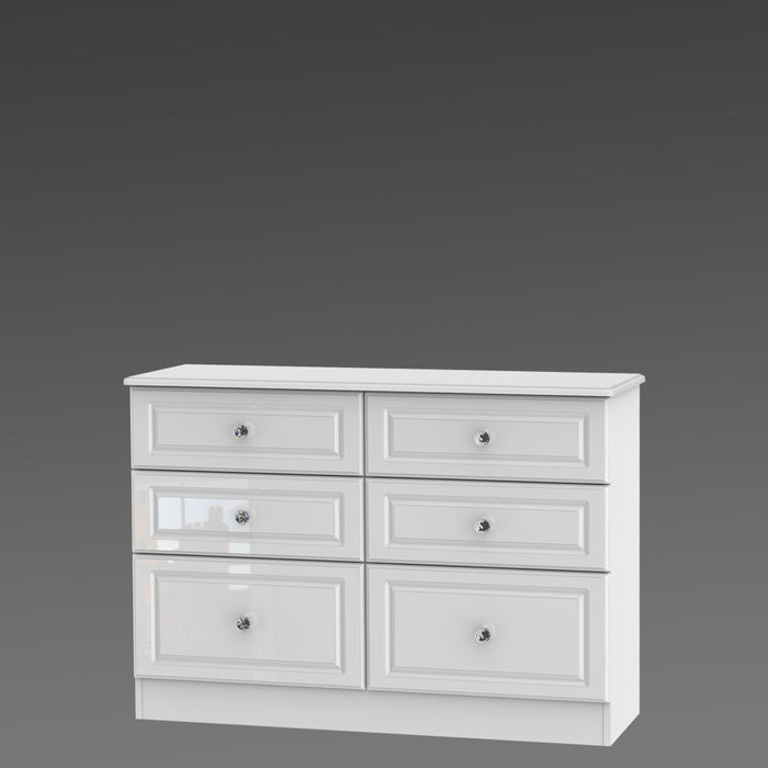 Crystal 6 Drawer Midi Chest