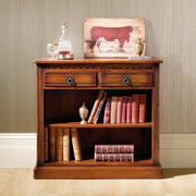 Old Charm Low Open Bookcase