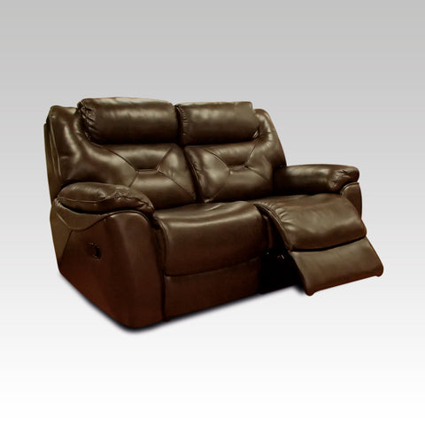 Lydia 2 Seater Recliner Leather Sofa