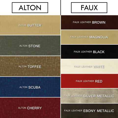 Alpha (Faux Leather, Suede, Striped Chenille & Alton) Headboard
