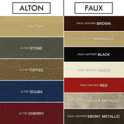 Lydia (Velour, Faux Leather, Suede, Chenille & Alton) Headboard
