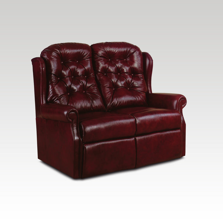 Woburn Standard 2 Seat Fixed Leather Settee