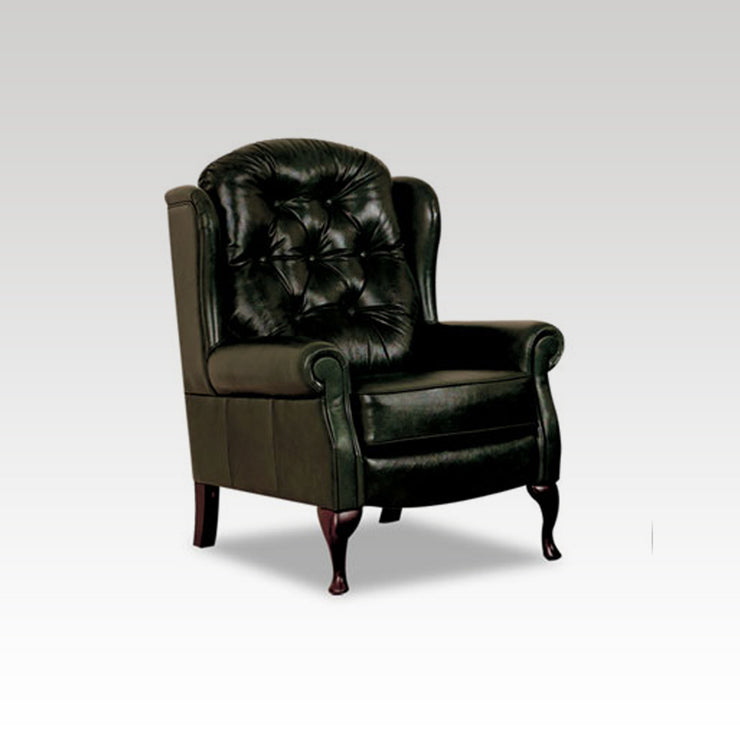 Petite Legged Fixed Leather Chair