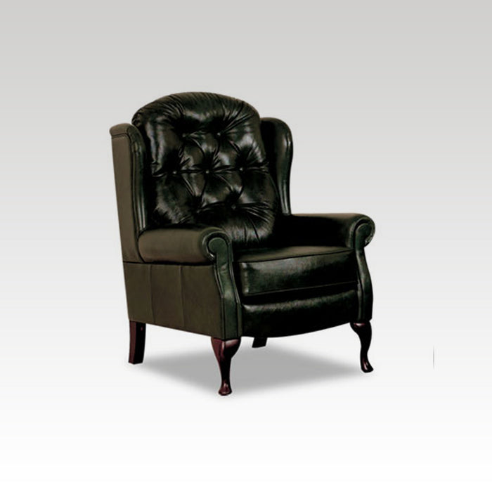 Standard Legged Fixed Leather Chair