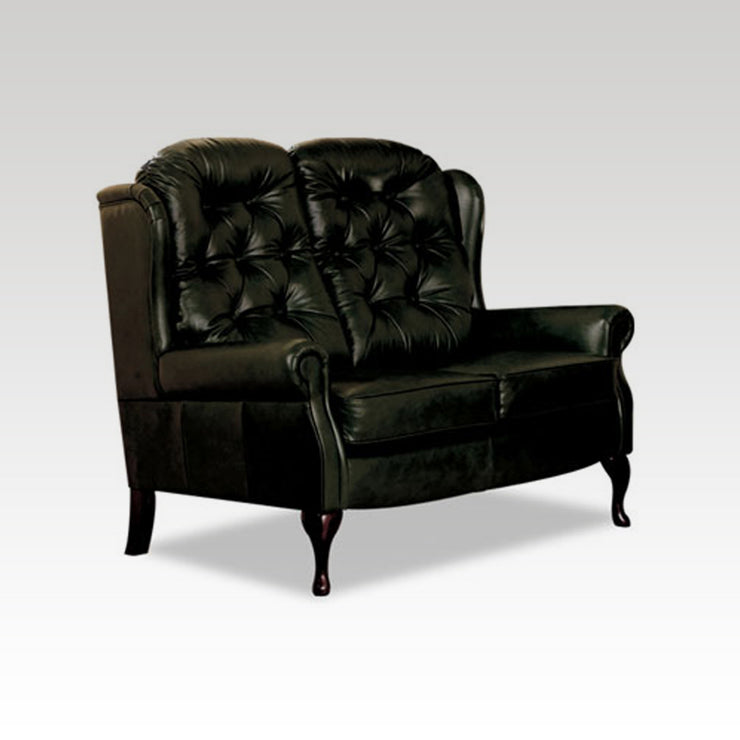 Standard Legged Fixed Leather 2 Seater