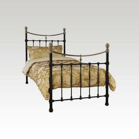 Edwardian II Black with Antique Bronze Single Bed