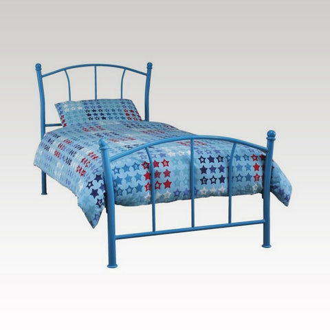 Penny Single Metal Bed Frame in Blue