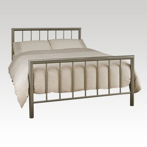Modena Small Double Metal Bed Frame in Champagne