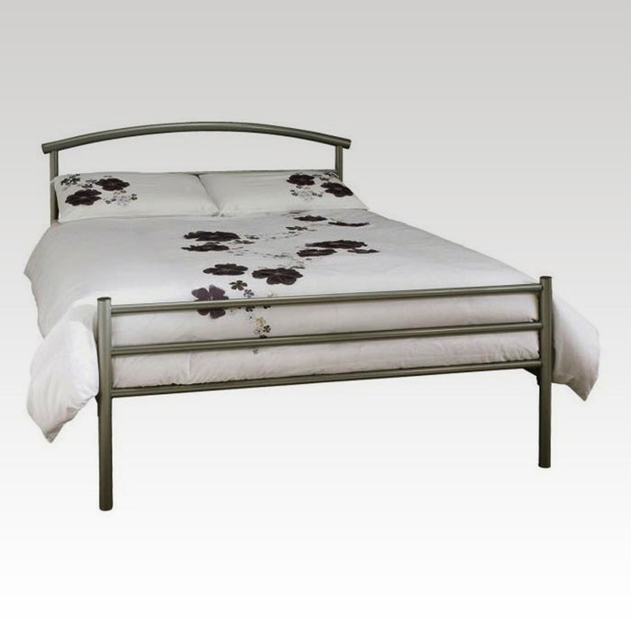 Brennington Small Double Metal Bed in Silver