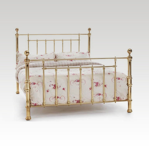Benjamin Double Metal Bed Frame in Brass