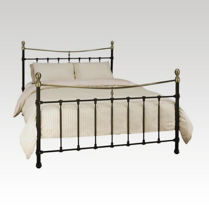 Edwardian II Ivory with Antique Bronze Double Bed