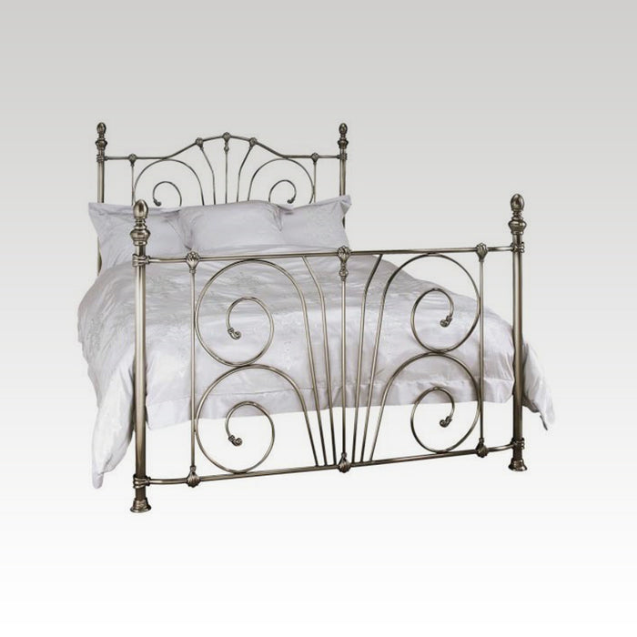Jessica Double Metal Bed Frame in Antique Nickel