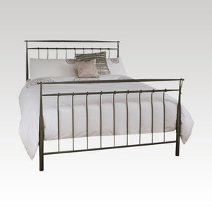 Elizabeth Double Metal Bed in Titanium Grey