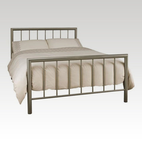 Modena Double Metal Bed Frame in Champagne