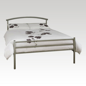 Brennington Double Metal Bed in Silver