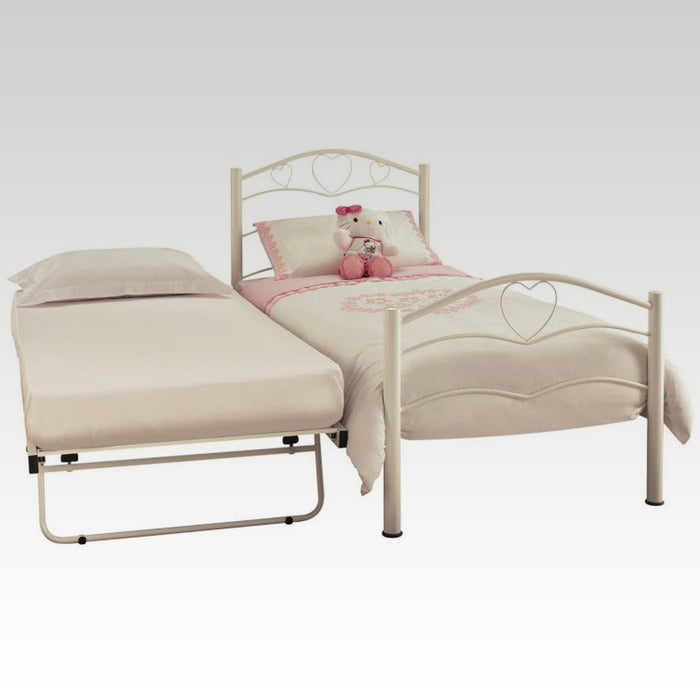 Yasmin Guest Bed Frame in White Gloss