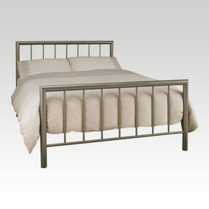Modena King Size Metal Bed Frame in Champagne