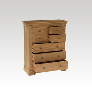 Minster Oak 3 + 4 Drawer Chest
