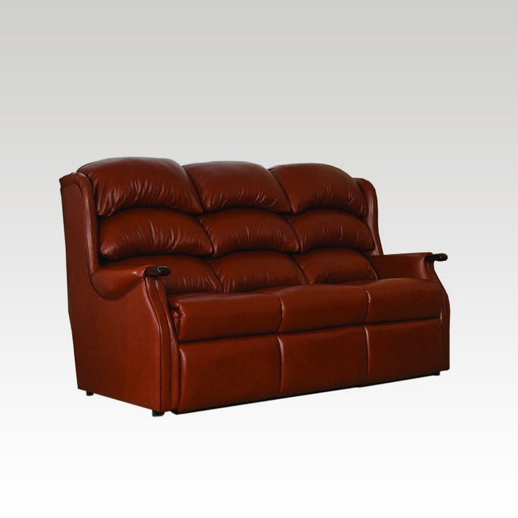 Westbury Fixed 3 Seat Leather Settee