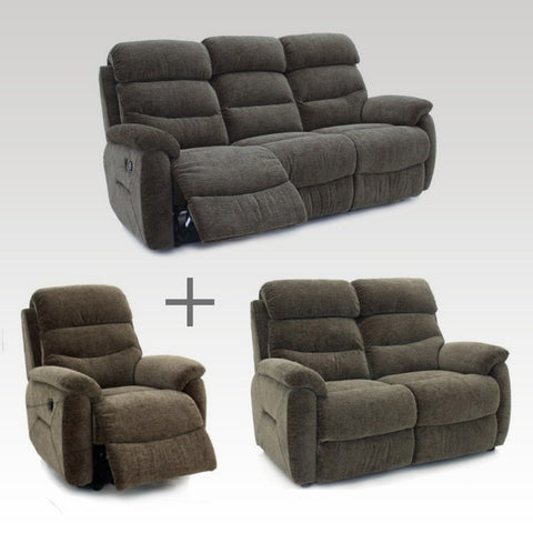Tina Fabric 3, 2 Seater & Chair Set