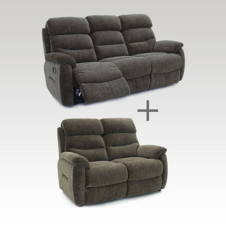 Tina Fabric Recliner 3 & 2 Seater Sofa Set
