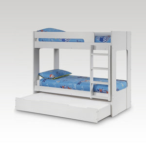 Ellie Bunk Bed in White Finish (mattresses extra)