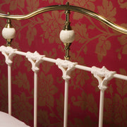 Knightsbridge Kingsize Metal Bed Frame in Ivory Gloss