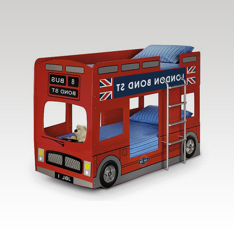 London Bus Bunk Bed (mattresses extra)