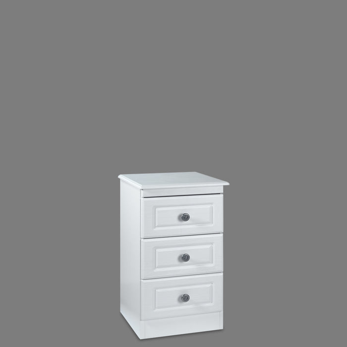 Snow White 3 Drawer Bedside Chest