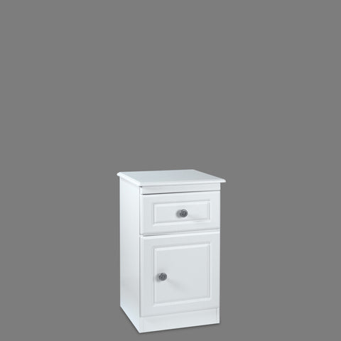 Snow White 1 Drawer Bedside Locker