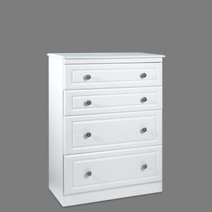 Snow White Four Drawer Deep Chest