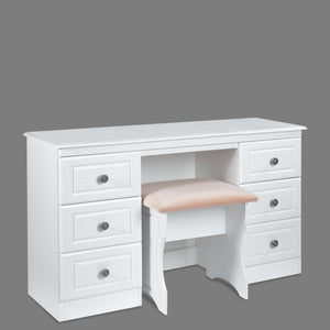 Snow White Double Dressing Table (Excluding stool)