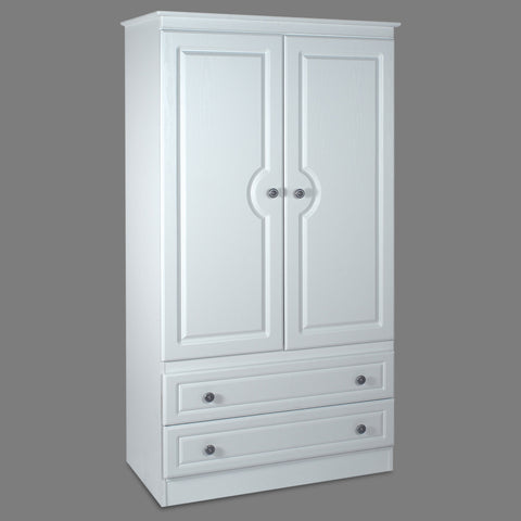 "Snow White 36"" 2 Door 2 Drawer Wardrobe"