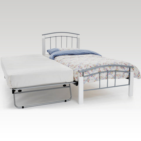 Tetras White and Silver Guest Bed Frame