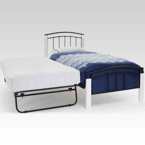 Tetras White and Black Guest Bed Frame