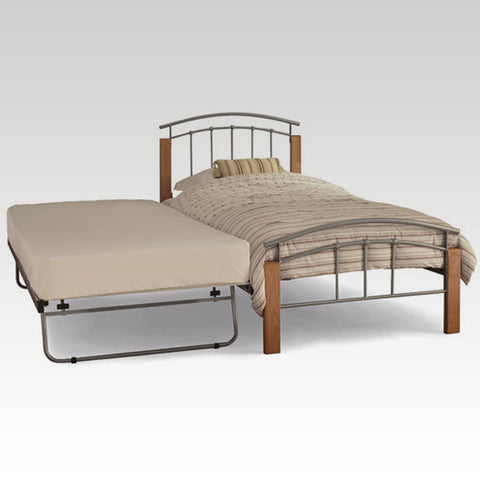 Tetras Beech and Silver Guest Bed Frame