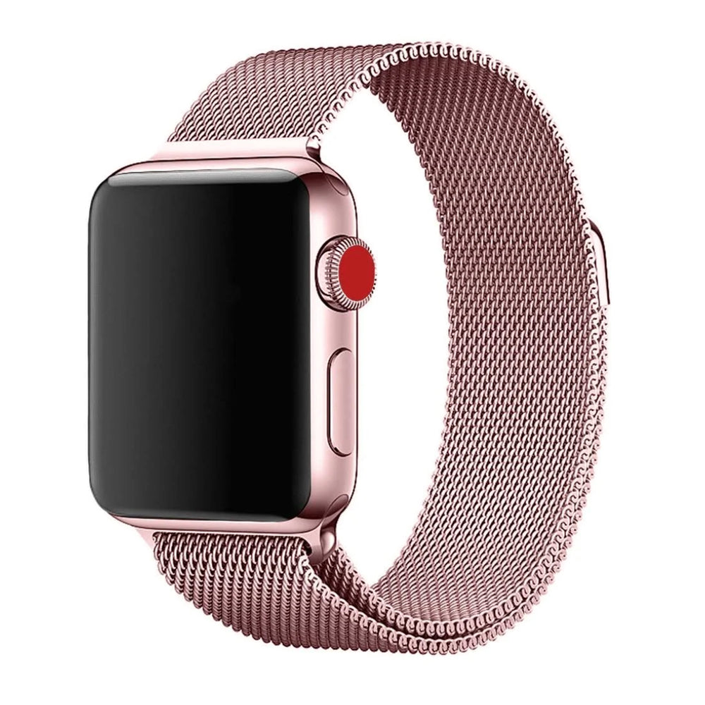Stainless Steel Apple Watch Strap - (Rose Gold)