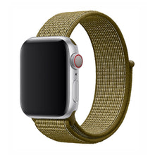 Load image into Gallery viewer, Nylon Apple Watch Strap - (Campfire Green)