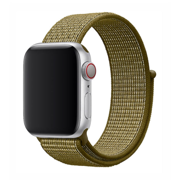 Nylon Apple Watch Strap - (Campfire Green)
