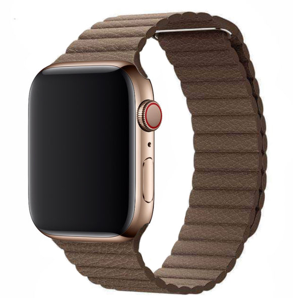 Leather Loop Apple Watch Strap (Costal Brown)