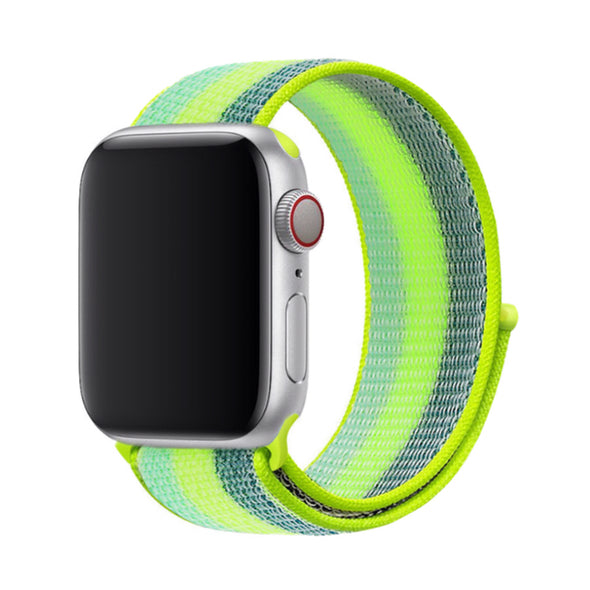 Nylon Apple Watch Strap - (Electric Green)