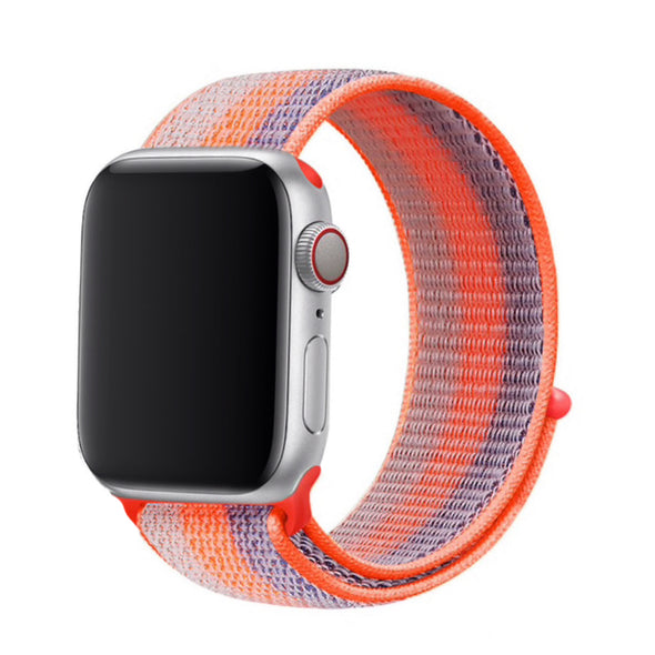 Nylon Apple Watch Strap - (Electric Orange)