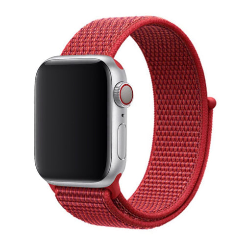 Nylon Apple Watch Strap - (Fire Red)
