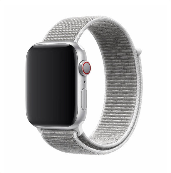 Nylon Apple Watch Strap - (Flash White)