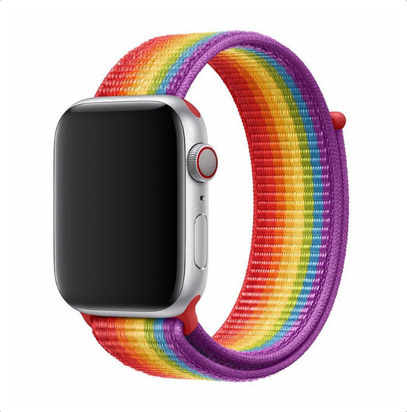 Nylon Apple Watch Strap - (Love is Love)