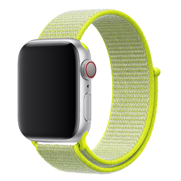 Nylon Apple Watch Strap - (Neon Lime)