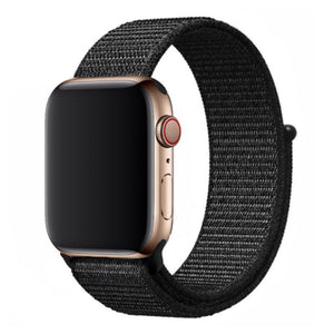 Nylon Apple Watch Strap - (Pure Black)